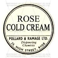 Rose Cold Cream Miniature Round Apothecary Label
