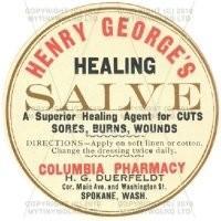 Healing Salve Miniature Round Apothecary Label