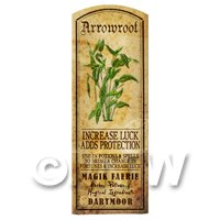 Dolls House Herbalist/Apothecary Herb Arrowroot Long Colour Label