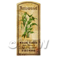 Dolls House Herbalist/Apothecary Herb Arrowroot Short Colour Label