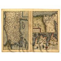 Dolls House Miniature Old Map Asia Minor From The Late 1500s