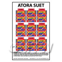 Dolls House Miniature Packaging Sheet of 9 Atora Suet Boxes