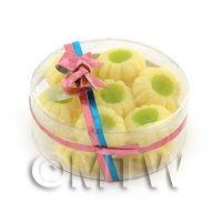 Dolls House Miniature Box of 14 Biscuits With Lime Centre