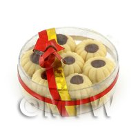 Dolls House Miniature Box of 14 Biscuits With Chocolate Centre