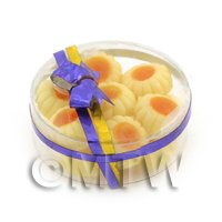 Dolls House Miniature Box of 14 Biscuits With Orange Centre