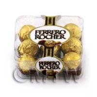 Dolls House Miniature Box of 9 Ferrero Rocher in box