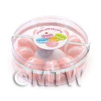 Dolls House Miniature Box of 10 Peach Macaroons