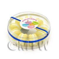 Dolls House Miniature Box of 10 Lemon Macaroons