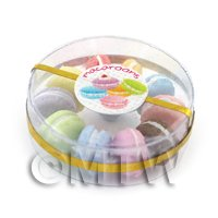 Dolls House Miniature Box of 10 Mixed Flavour Macaroons