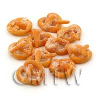 Dolls House Miniature Small Sugared Sweet Pretzel