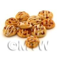 Dolls House Miniature Raisin Danish With Iced Swirl