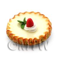 Dolls House Miniature Bakewell Tart Topped With A Strawberry