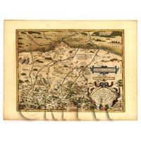 Dolls House Miniature Old Map Of Barviar From The Late 1500s