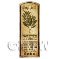 Dolls House Herbalist/Apothecary Bay Leaf Herb Long Sepia Label
