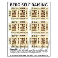 Dolls House Miniature Sheet of 6 Bero White Self Raising Flour Boxes