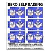 Dolls House Miniature Sheet of 6 Bero Self Raising Flour Boxes