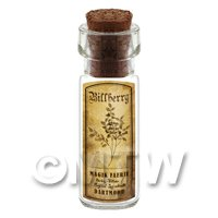 Dolls House Apothecary Billberry Herb Short Sepia Label And Bottle