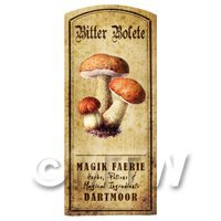 Dolls House Miniature Apothecary Bitter Bolete Fungi Colour Label
