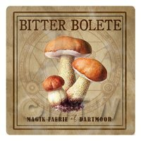Dolls House Miniature Apothecary Bitter Bolete Fungi Colour Box Label