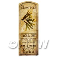 Dolls House Herbalist/Apothecary Bladderwrack Herb Long Colour Label