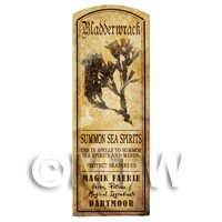 Dolls House Herbalist/Apothecary Bladderwrack Herb Long Sepia Label