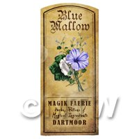 Dolls House Herbalist/Apothecary Blue Mallow Herb Short Colour Label