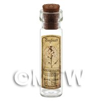Dolls House Apothecary Bogbean Herb Long Sepia Label And Bottle