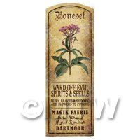 Dolls House Herbalist/Apothecary Boneset Herb Long Colour Label