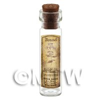 Dolls House Apothecary Boneset Herb Long Sepia Label And Bottle
