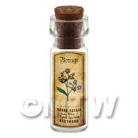 Dolls House Apothecary Borage Herb Short Colour Label And Bottle