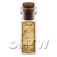 Dolls House Apothecary Borage Herb Short Sepia Label And Bottle