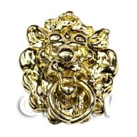 Dolls House Miniature Brass Lions Head Door knocker