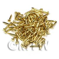 Dolls House Miniature Brass Nail 100 pack