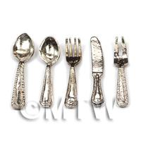 Dolls House Miniature 5 Piece Cutlery Set