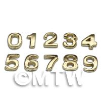 1/12th scale - Dolls House Miniature Brass Numbers 0-9