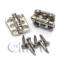 DHM Chrome 6 hole Hinges With 12 screws