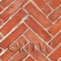 Dolls House Miniature Old Herringbone Brick Pattern Cladding