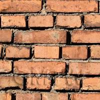 Pack of 5 Dolls House Worn Victorian Red Brick Pattern Cladding Sheets