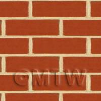 Dolls House Miniature New Dark Red Brick Pattern Cladding