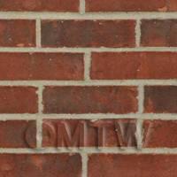 Dolls House Miniature Mixed Red Brick Pattern Cladding