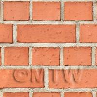 Dolls House Miniature Lightly Weathered Clean Victorian Brick Pattern Cladding