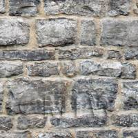 Dolls House Miniature - Dolls House Miniature Grey Stone Wall Pattern Cladding
