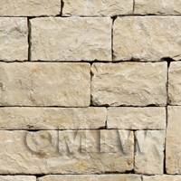 Pack of 5 Dolls House Dry Stone Blocks Pattern Cladding Sheets