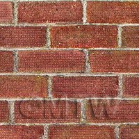 Pack of 5 Dolls House Dark Red Wave Textured Brick Pattern Cladding Sheets