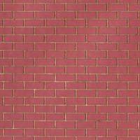 Handmade Red Brick With Buff Mortar Dolls House Cladding