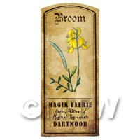 Dolls House Herbalist/Apothecary Broom Herb Short Colour Label