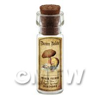 Dolls House Apothecary Brown Bolete Fungi Bottle And Colour Label