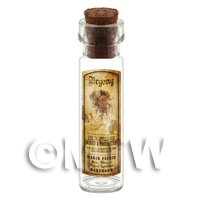Dolls House Apothecary Bryony Herb Long Sepia Label And Bottle