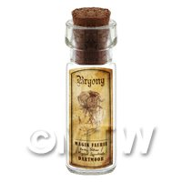 Dolls House Apothecary Bryony Herb Short Sepia Label And Bottle