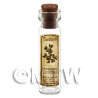 Dolls House Apothecary Buckthorn Herb Long Sepia Label And Bottle